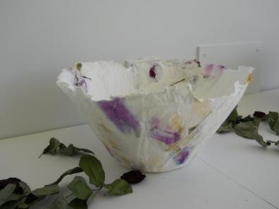 paper rose bowl