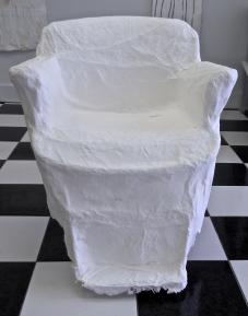 cast handmade paper chair