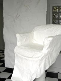 cast paper hair stylist's chair