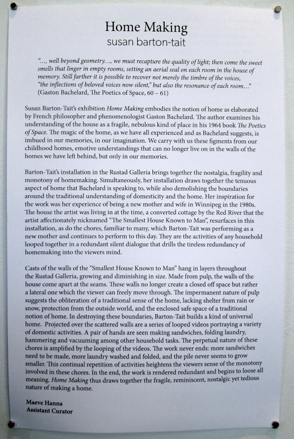 essay by Maeve Hanna, Assistant Curator for Two Rivers Gallery, Prince George, BC