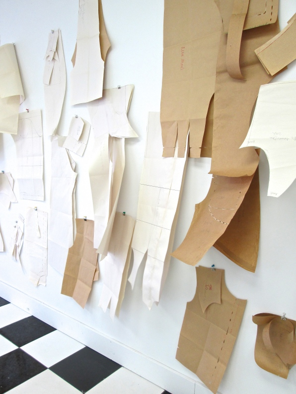 Barbara's patterns in storefront studio