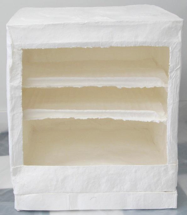 detail, inside cast paper stove