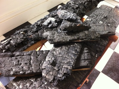charred detail